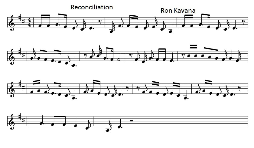 reconciliation sheet music