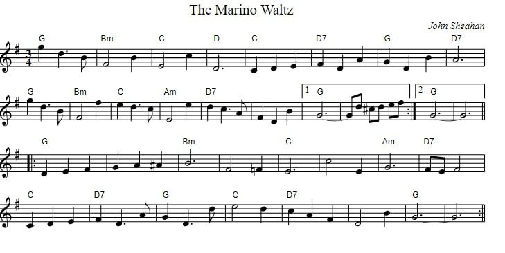 The Marino Waltz sheet music with chords