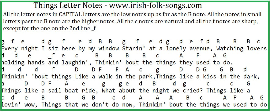 Things Bobby Darin music letter notes